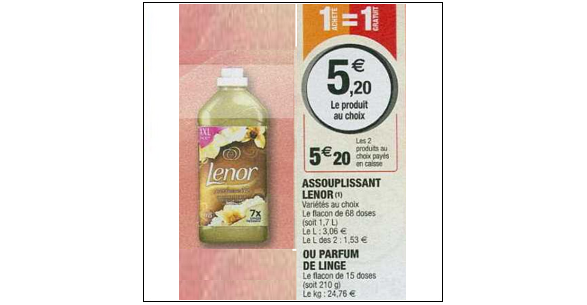 Bon Plan Adoucissant Lenor chez Magasins U (18/12 - 05/01) - anti-crise.Fr