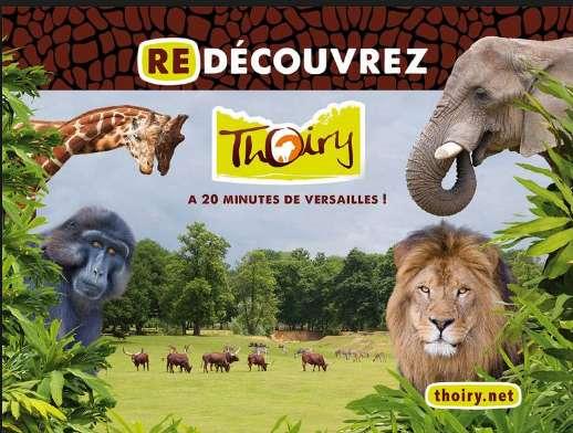 Parc zoologique de Thoiry : entrées à 18,9€