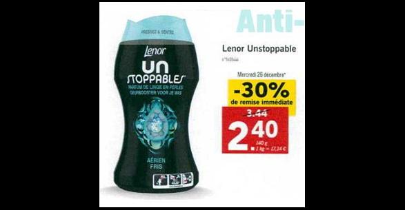 Bon Plan Parfum de Linge Lenor chez Lidl (26/12 - 31/12) - anti-crise.Fr