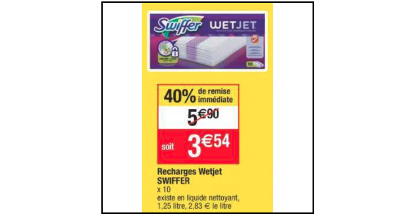 Bon Plan Lingettes Swiffer Wet Jet chez Cora (04/12 - 10/12) - anti-crise.fr
