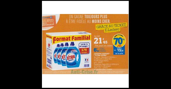 Bon Plan Lessive Liquide X-Tra chez Leclerc (27/12 - 05/01) - anti-crise.Fr