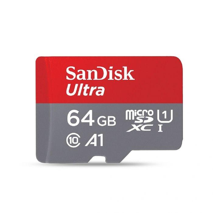 9.43€ la carte mémoire Sandisk micro sd 64go