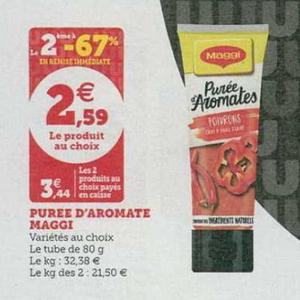 Bon Plan Purée d'Aromate Maggi chez Hyper U - anti-crise.fr