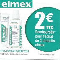 Offre de Remboursement Elmex : 2€ Remboursés pour l'achat de 2 Produits