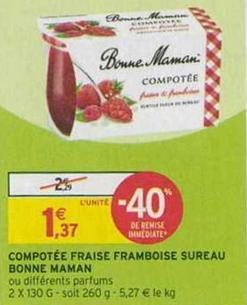 Bon Plan Compotée Bonne Maman chez Intermarché - anti-crise.fr