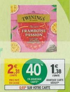 Bon Plan Thé Vert Twinings chez Intermarché - anti-crise.fr
