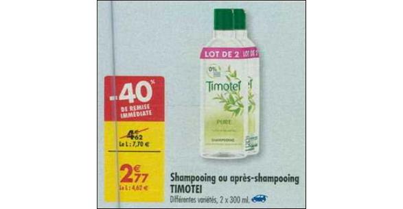 Bon Plan Shampooing Timotei chez Carrefour - anti-crise.fr