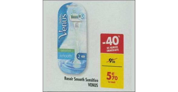 Bon Plan Rasoir Venus Smooth Sensitive de Gillette chez Carrefour - anti-crise.fr
