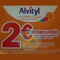 Offre de Remboursement Alvityl : 2€ Remboursés sur un Produit de la Gamme