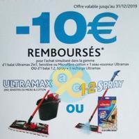 Offre de Remboursement Vileda : 10€ Remboursés sur la Gamme Ultramax