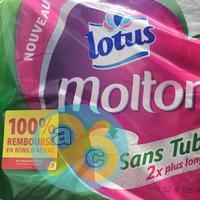 Offre de Remboursement Lotus : Papier Toilette Moltonel Sans Tube 100% Remboursé en 2 Bons d'Achat