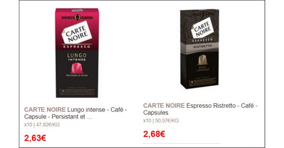 Bon Plan Capsules de Café Lungo Intense ou Ristretto Carte Noire chez Géant - anti-crise.fr