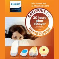 Offre de Remboursement Philips : Appareil de Luminothérapie Satisfait ou 100% Remboursé