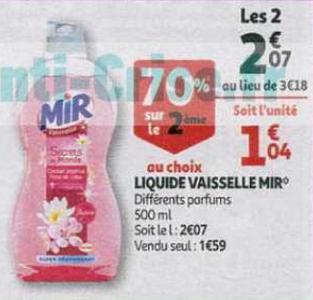 Bon Plan Mir Vaisselle chez Auchan - anti-crise.fr