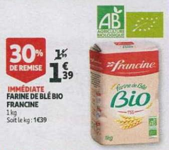 Bon Plan Farine Suprême Francine chez Auchan - anti-crise.fr
