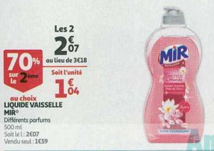 Bon Plan Mir Vaisselle chez Auchan Supermarché - anti-crise.fr