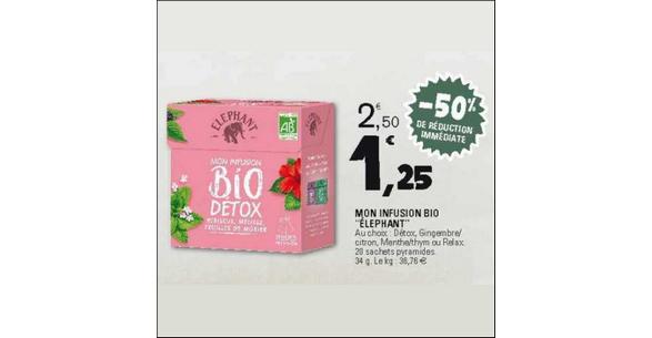 Bon Plan Infusion Bio Detox Elephant chez Leclerc Est - anti-crise.fr