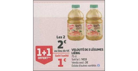 Bon Plan Soupe Liebig 100% Légumes Français chez Auchan Supermarché - anti-crise.fr