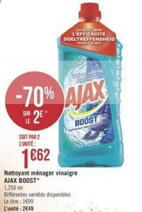 Bon Plan Nettoyant Ajax Boost chez Géant Casino (22/01 - 03/02) - anti-crise.fr