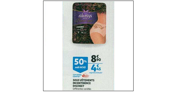 Bon Plan Culottes Discreet Boutique chez Auchan (09/01 - 15/01) - anti-crise.fr