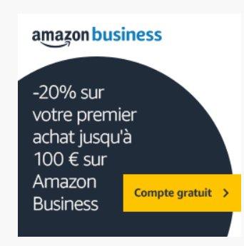 Amazon Business: 20% de réduction sur sa premiere commande