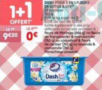 Bon Plan Lessive Dash Pods chez Leader Price (29/01 - 10/02) - anti-crise.fr