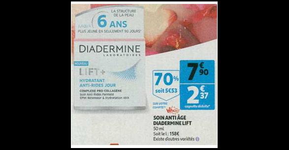 Bon Plan Soin Lift+ de Diadermine chez Auchan (16/01 - 22/01) - anti-crise.Fr