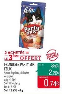 Bon Plan Friandises Felix Party Mix chez Match (29/01 - 10/02) - anti-crise.fr