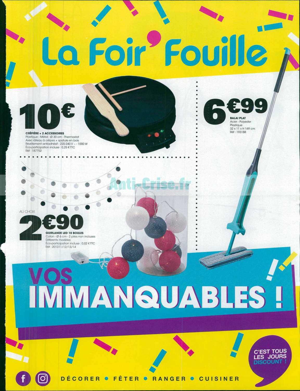 Catalogue La Foir Fouille Du 28 Janvier Au 06 Février 2019