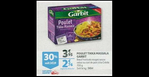 Bon Plan Plat Cuisiné Saveurs de Là-Bas Garbit chez Auchan (09/01 - 15/01) - anti-crise.fr