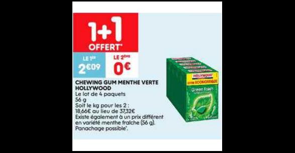 Bon Plan Chewing-Gum Hollywood chez Leader Price (22/01 - 27/01) - anti-crise.fr