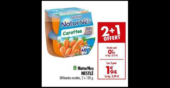 Bon Plan Naturnes de Nestlé chez Carrefour (15/01 - 04/02) - anti-crise.fr