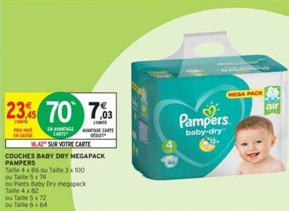 COPIE DE Bon Plan Culottes et Couches Baby-Dry Pampers chez Intermarché (22/01 - 27/01) - anti-crise.fr
