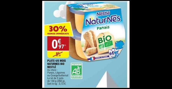 Bon Plan Plat Naturnes Bio de Nestlé chez Atac (16/01 - 21/01) - anti-crise.fr