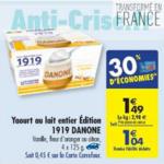 Bon Plan Yaourts 1919 Danone chez Carrefour (05/02 - 11/02) - anti-crise.Fr