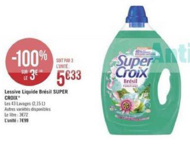 Bon Plan Lessive Super Croix chez Géant Casino - anti-crise.fr