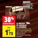 Bon Plan Mousse au Chocolat La Fermière chez Carrefour Market - anti-crise.fr