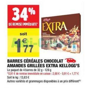 Bon Plan Barres Extra Kellogg's chez Carrefour Market - anti-crise.fr