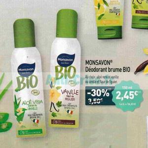 Bon Plan Déodoarant Bio Monsavon chez Aldi - anti-crise.fr