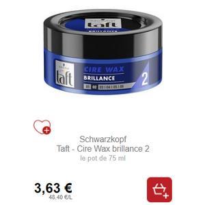 Bon Plan Cire Wax Brillance Taft chez Intermarché - anti-crise.fr