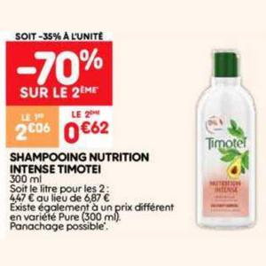 Bon Plan Shampooing Nutrition Intense Timotei chez Leader Price - anti-crise.fr