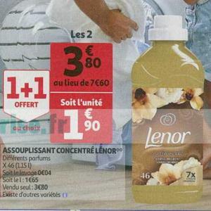 Bon Plan Adoucissant Lenor chez Auchan Supermarché - anti-crise.fr