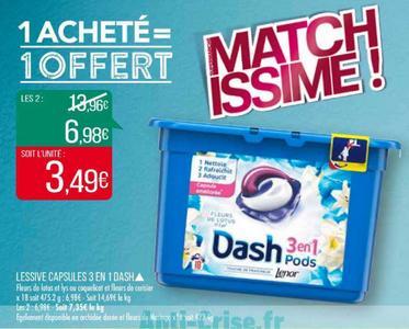 Bon Plan Lessive Dash Pods chez Match - anti-crise.fr