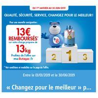 Offre de Remboursement Butagaz : 13€ Remboursés sur Bouteille 13kg Propane