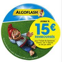Offre de Remboursement Algoflash : Jusqu'à 15€ Remboursés sur Semences Gazon