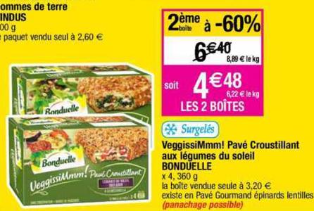 Bon Plan Pavé VeggissiMmm! Bonduelle chez Cora (12/02 - 18/02) - anti-crise.fr