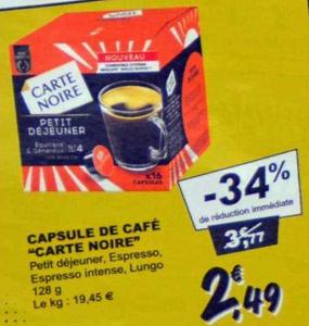 Bon Plan Capsules Pour Dolce Gusto Carte Noire chez Leclerc (19/02 - 23/02) - anti-crise.fr