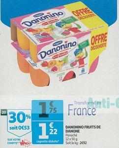 Bon Plan Danonino chez Auchan Supermarché (13/02 - 19/02) - anti-crise.fr