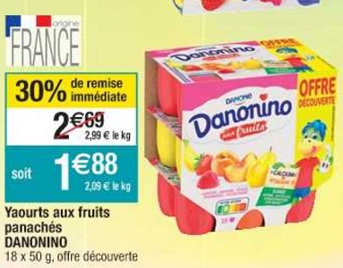 Bon Plan Danonino chez Cora (26/02 - 04/03) - anti-crise.Fr