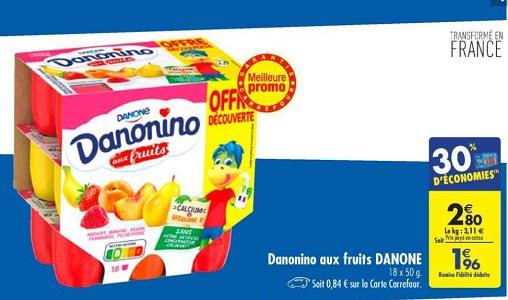 Bon Plan Danonino chez Carrefour (05/02 - 11/02) - anti-crise.fr